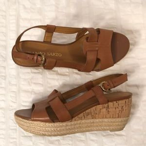 """Franco Sarto"" Leather Wedge Sandal"